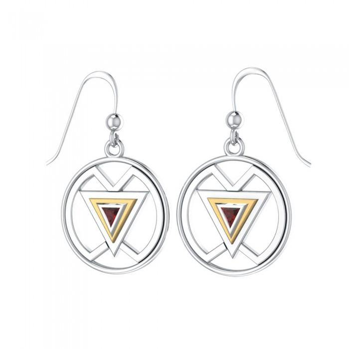 Femininity Symbol Silver and Gold Earrings MER528 peterstone.
