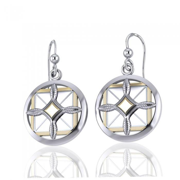 Protection and Growth Silver and Gold Earrings
