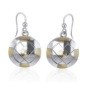 Protection Centralization Silver and Gold Earrings MER531 peterstone.