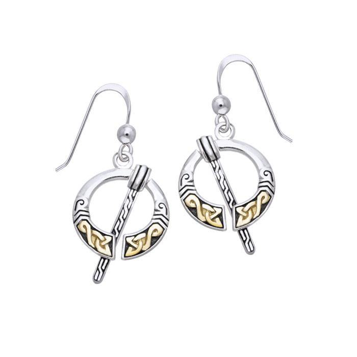 Celtic Penannular Brooch Earrings MER550