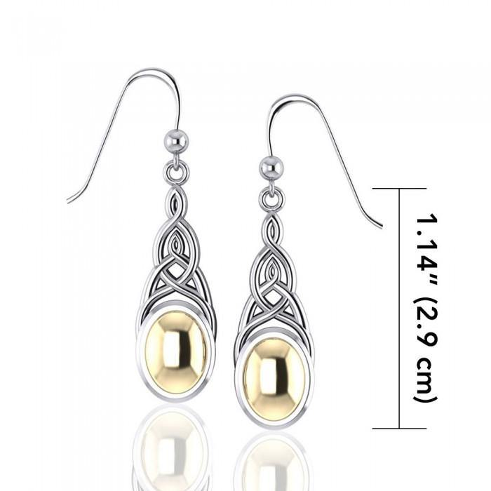 Danu Silver and Gold Celtic Knotwork Earrings MER553