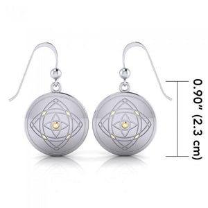 Be Focused Silver and Gold Earrings