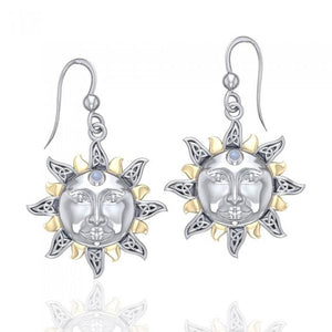 Celtic Sun Earrings MER567 peterstone.