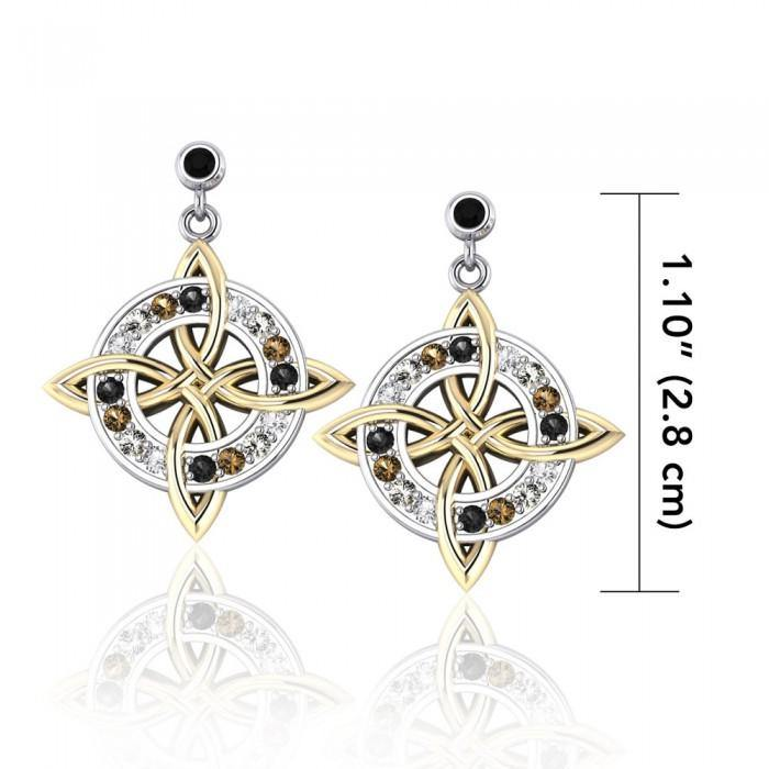 Celtic Quaternary Knot Earrings MER702
