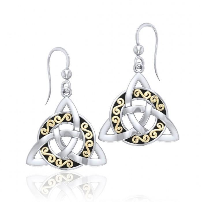 Celtic Trinity Knot Earrings MER708