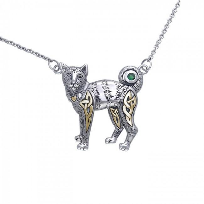 Celtic Cat Necklace MNC047
