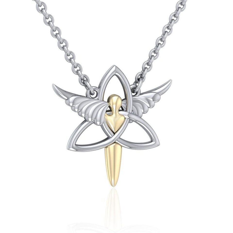 Celtic Trinity Angel Necklace MNC423P