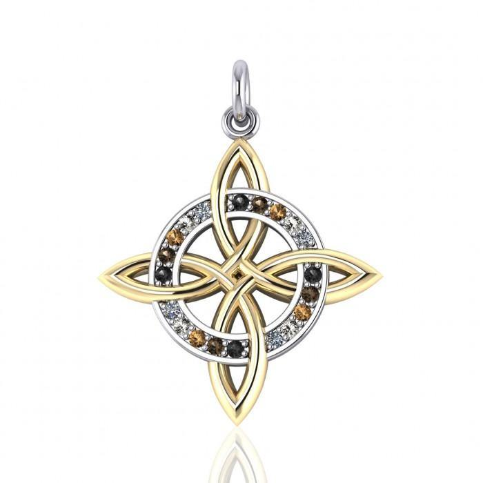 Celtic Four Point Knot with Swarovski Crystal MPD1809