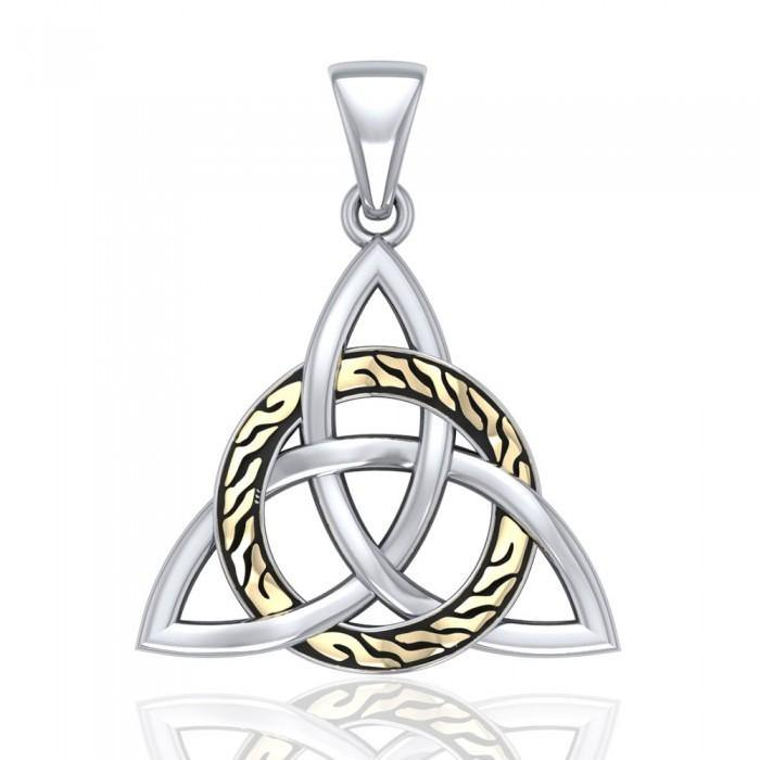 Celtic Trinity with Braid Silver Pendant MPD1813
