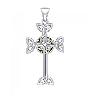 Celtic Cross Silver & Gold Pendant MPD1819