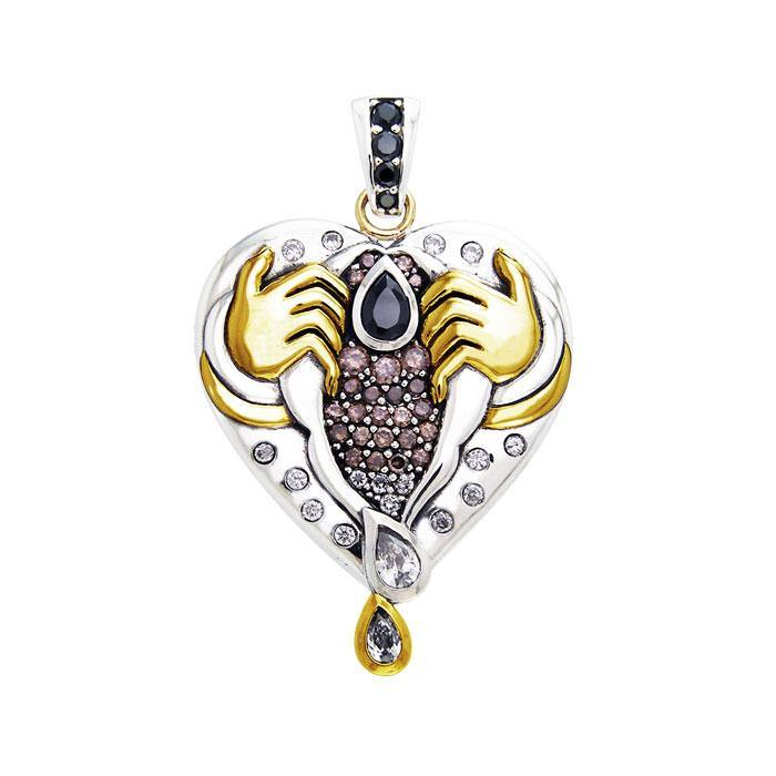 Inspired by Dali Silver The Female Pendant MPD2650