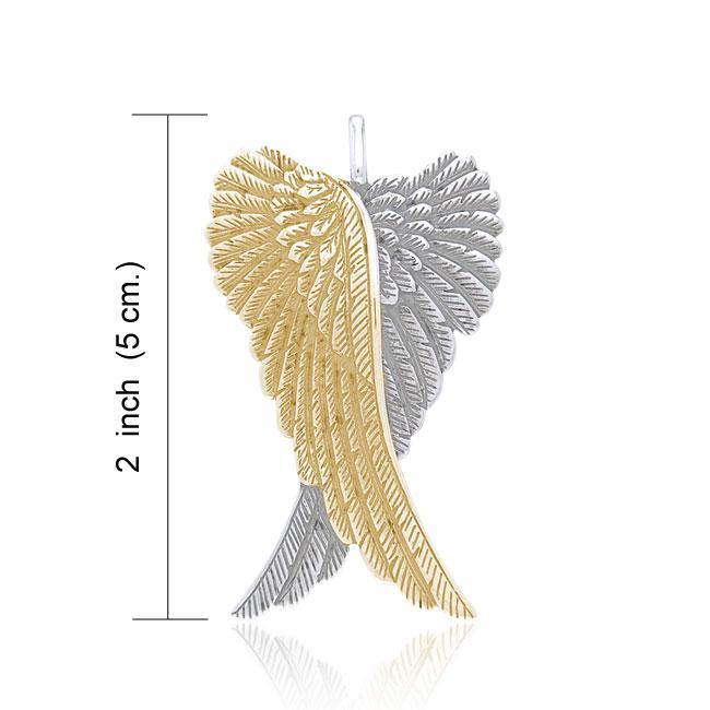 Angel Wings Silver and Gold Pendant MPD2933