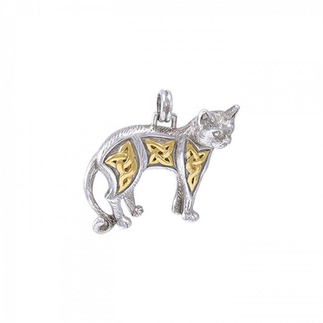 Celtic Cat Pendant MPD333 peterstone.
