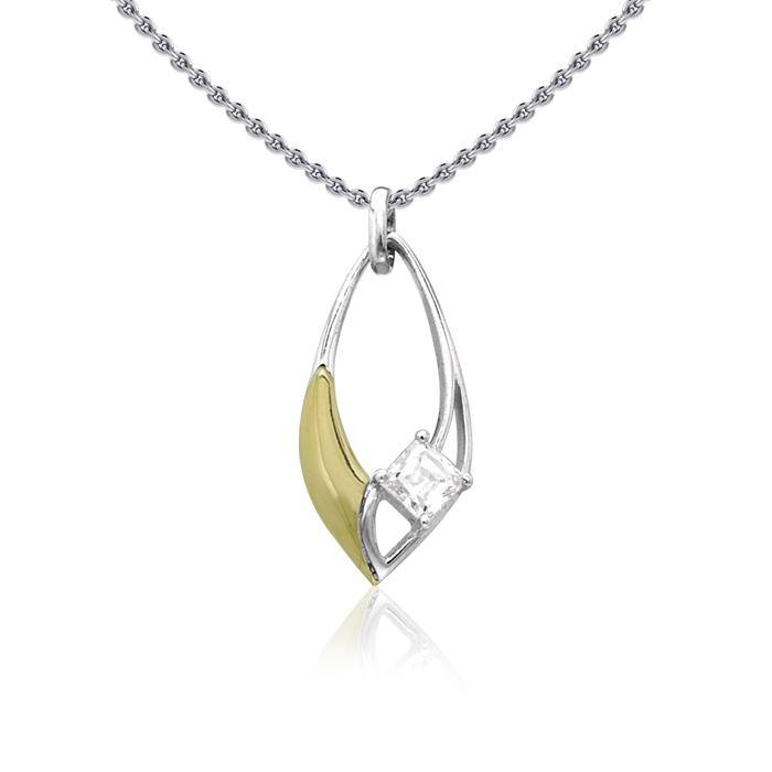 First Look I Love ~ Sterling Silver Necklace Jewelry MPD3587 peterstone.