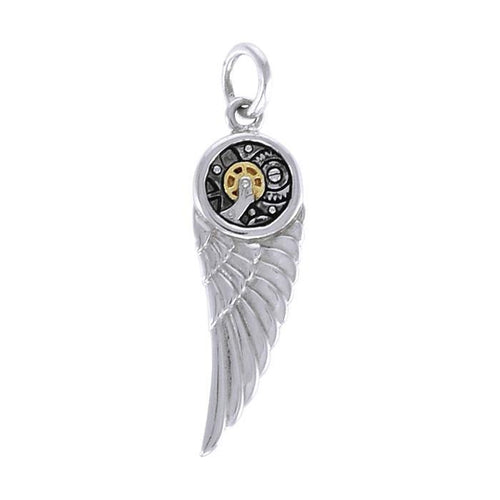 Wing Steampunk Silver and Gold Accent MPD3901 peterstone.