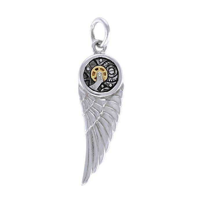 Wing Steampunk Silver and Gold Accent MPD3901