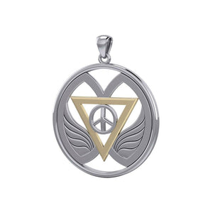 Peace of Feminine Power Silver and Gold Pendant MPD5133