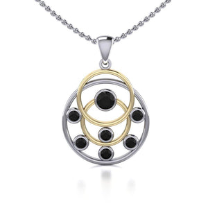 Blaque Circles Pendant MPD714 peterstone.