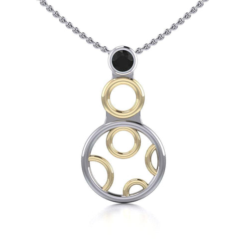 Blaque Circles Pendant MPD760 peterstone.