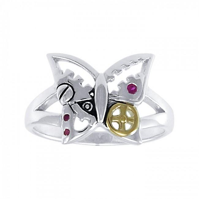 Butterfly Steampunk Ring MRI1262