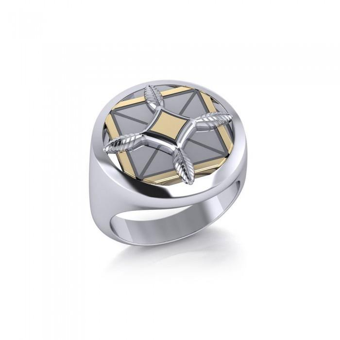 Protection and Growth Sterling Silver and Gold Ring MRI1577