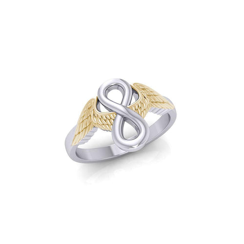 Angel Wings with Infinity Silver and Gold Ring MRI1711 peterstone.