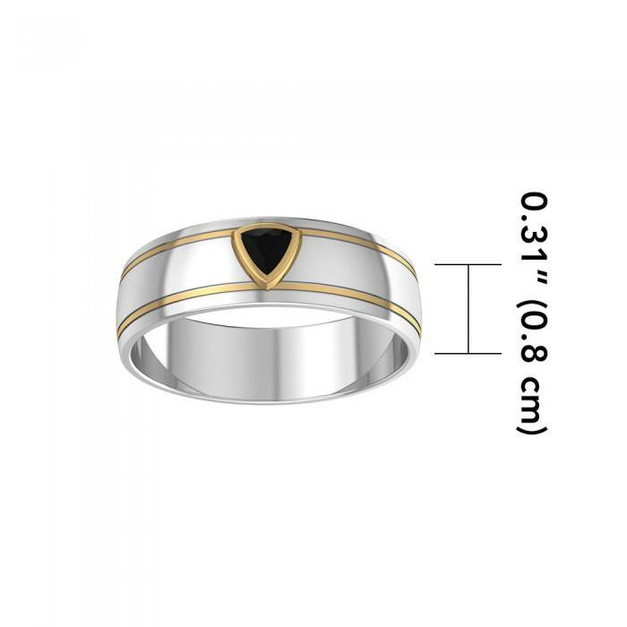 Blaque Triangle Solitare Ring MRI469