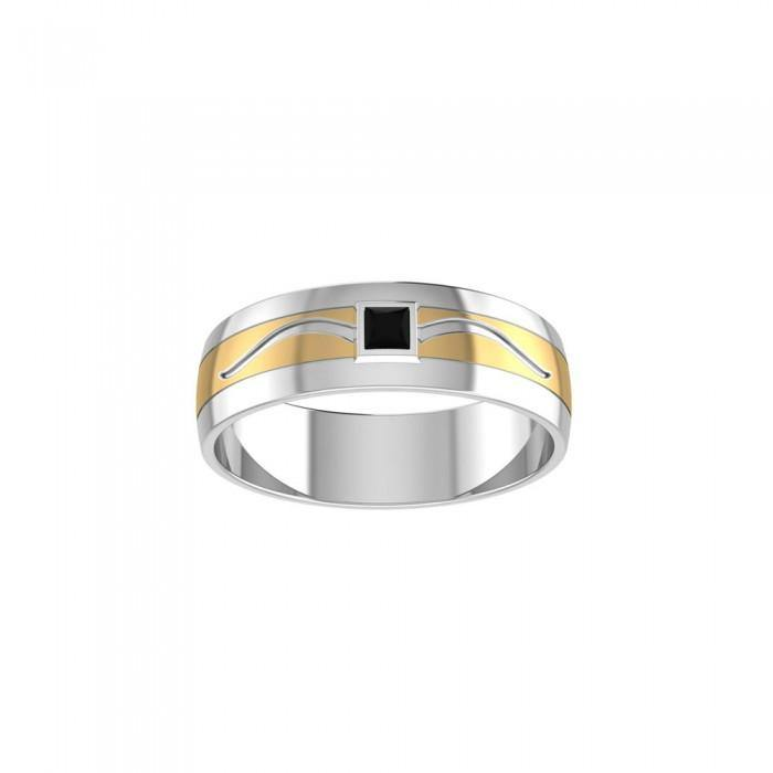 Blaque Retangle Solitare Ring MRI471