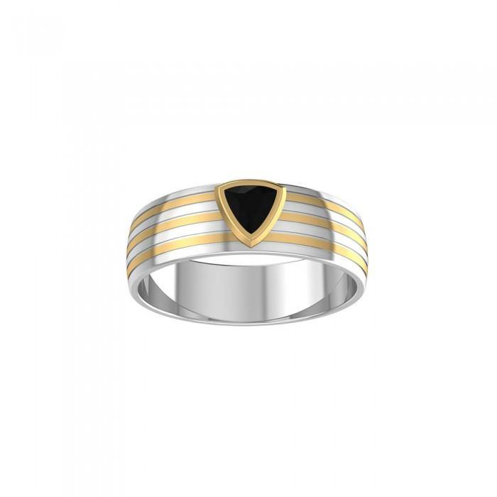 Blaque Triangle Solitare Ring MRI472