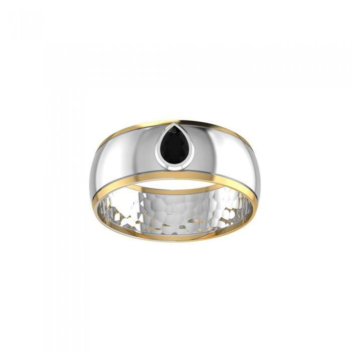 Blaque Teardrop Solitare Ring MRI477