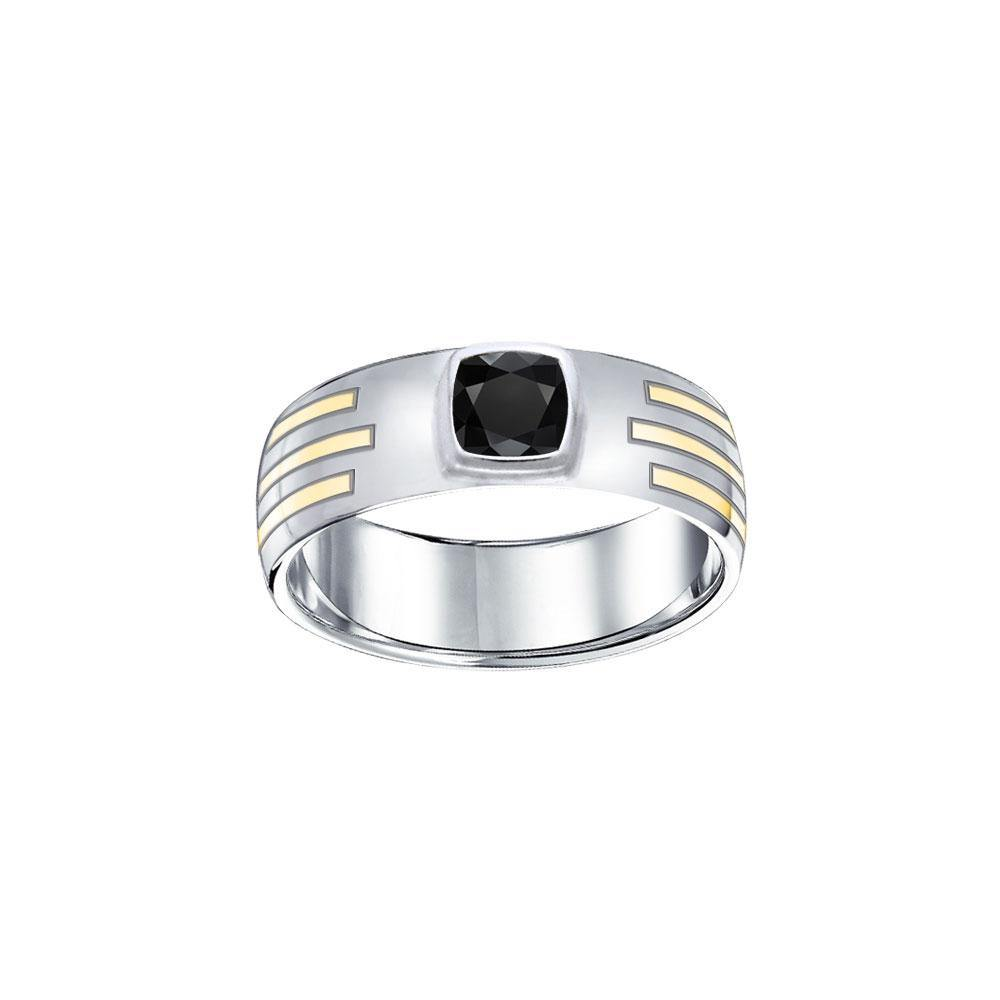 Blaque Rectangle Solitare Ring MRI479