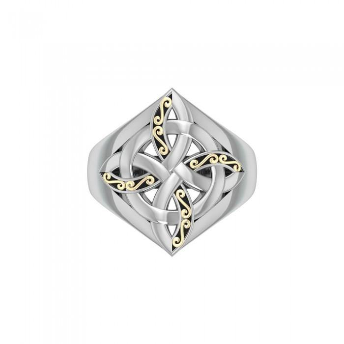 Celtic Four Point Knot Ring MRI655