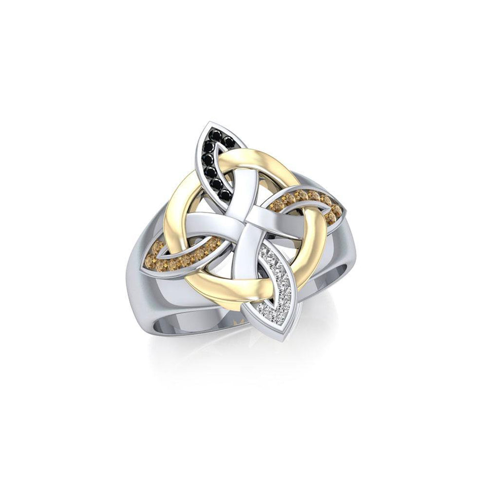 Celtic Four Point Knot Ring MRI656