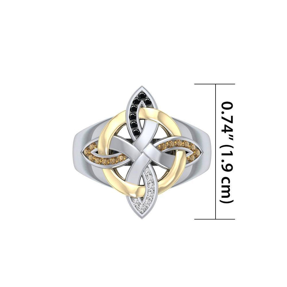 Celtic Four Point Knot Ring MRI656 peterstone.