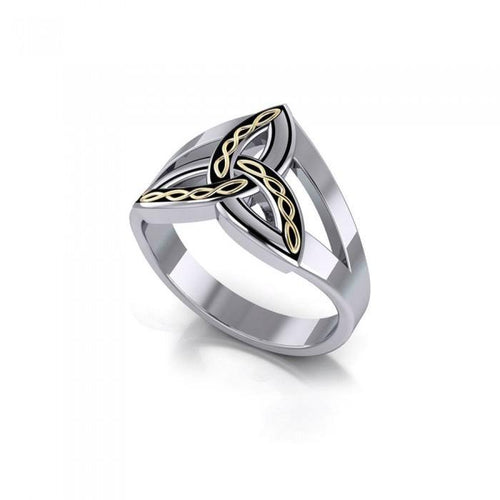 Braided Celtic Trinity Knot Ring MRI657 peterstone.