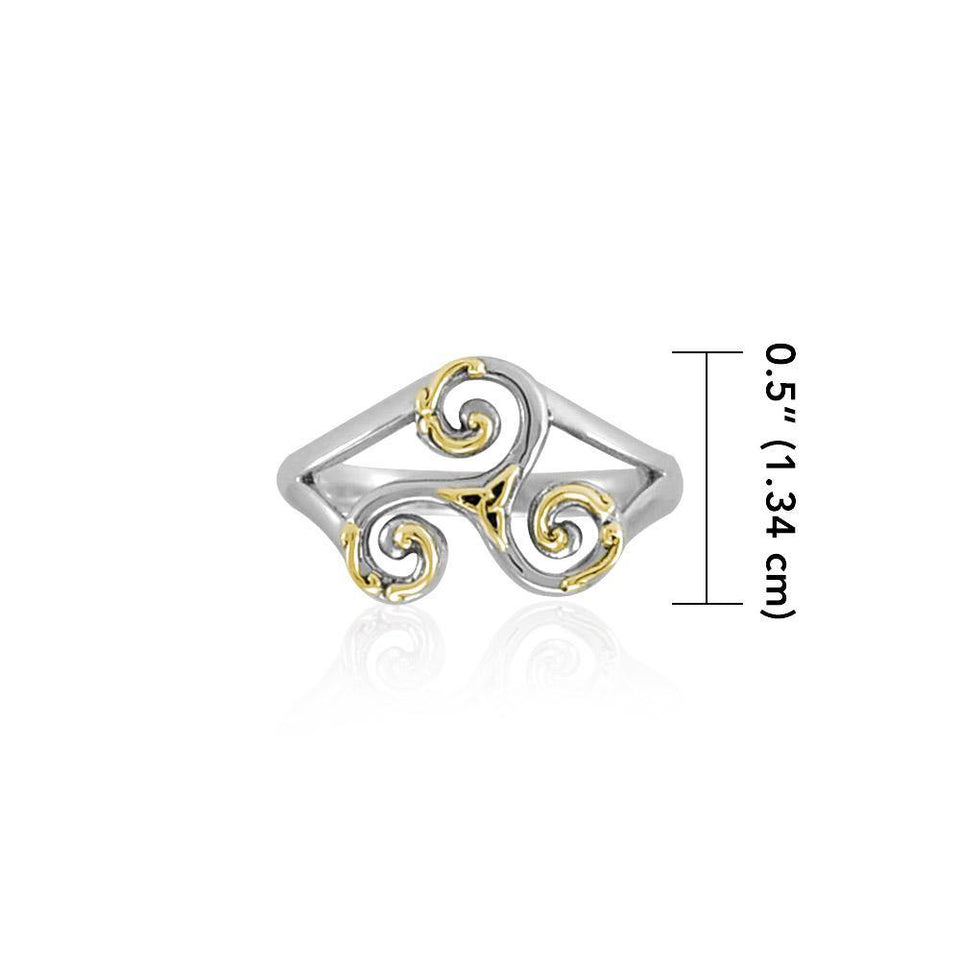 Celtic Triskele Ring MRI660