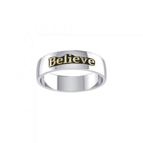 Believe Silver and Gold Ring MRI698 peterstone.