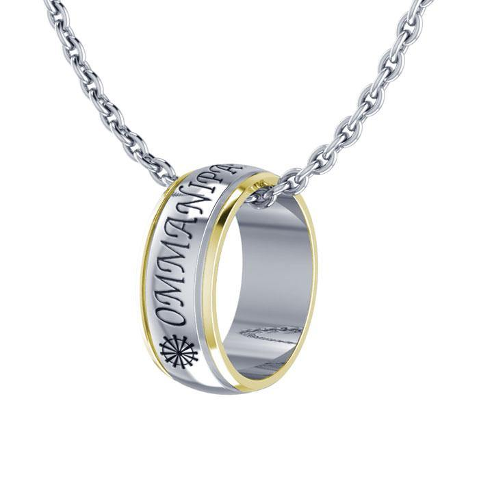 Om Mani Pame Hum Ring Necklace MSE122
