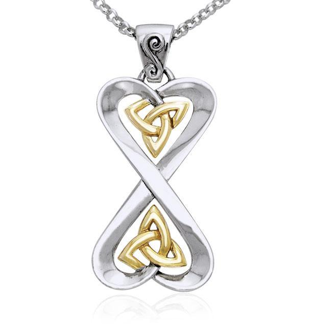Danu Silver and Gold Celtic Knotwork Set MSE152