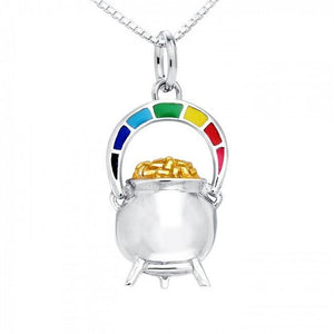 Danu Rainbow Pot of Gold Necklace Set MSE191 peterstone.