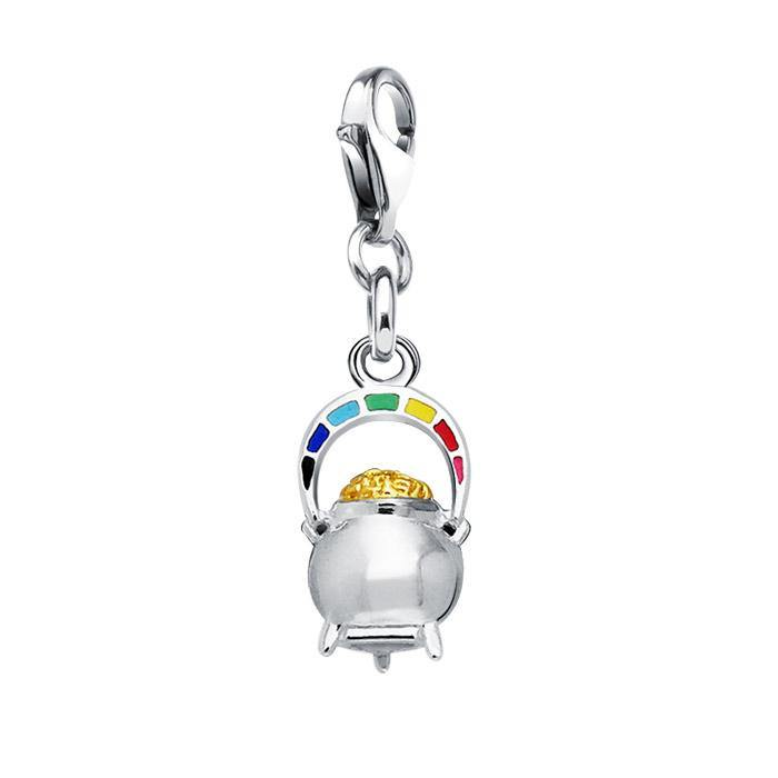 Danu Rainbow Pot of Gold Clip Charm MWC045