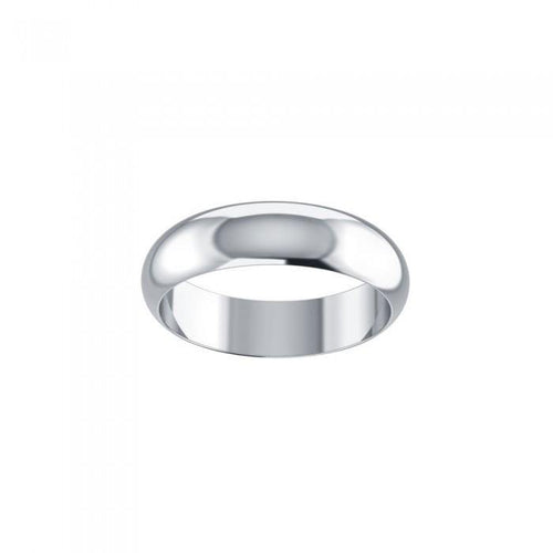 Smooth Silver Wedding Band SM158