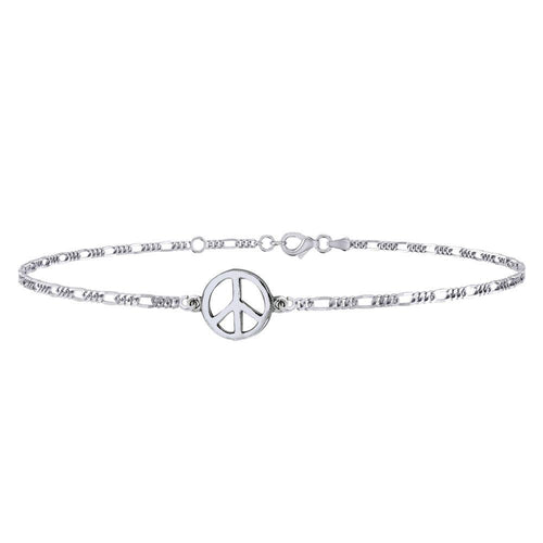 Peace Silver Anklet TAL035 peterstone.