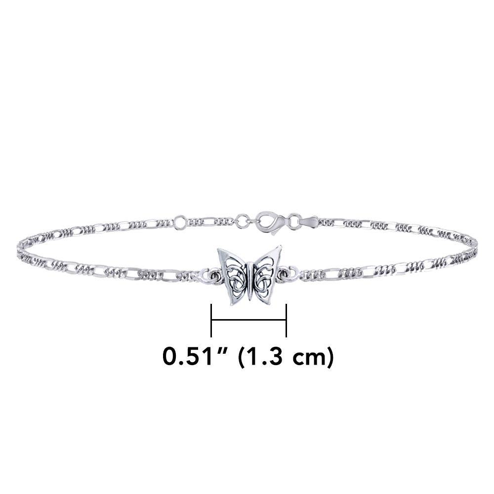 Butterfly Sterling Silver Anklet TAL037