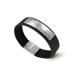 Words That Matter Leather bracelet with Magnetic Lock TBA208 peterstone.