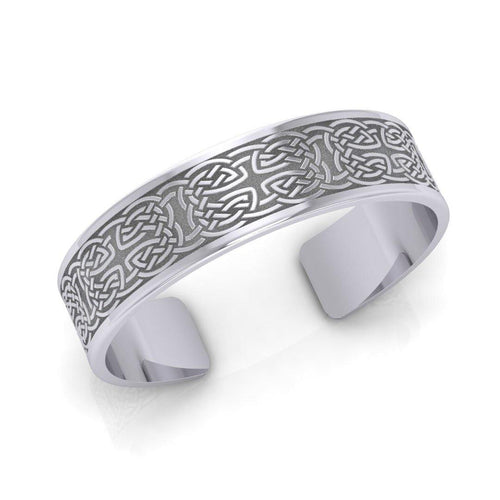 Large Celtic Knotwork Sterling Silver Cuff Bracelet TBA209