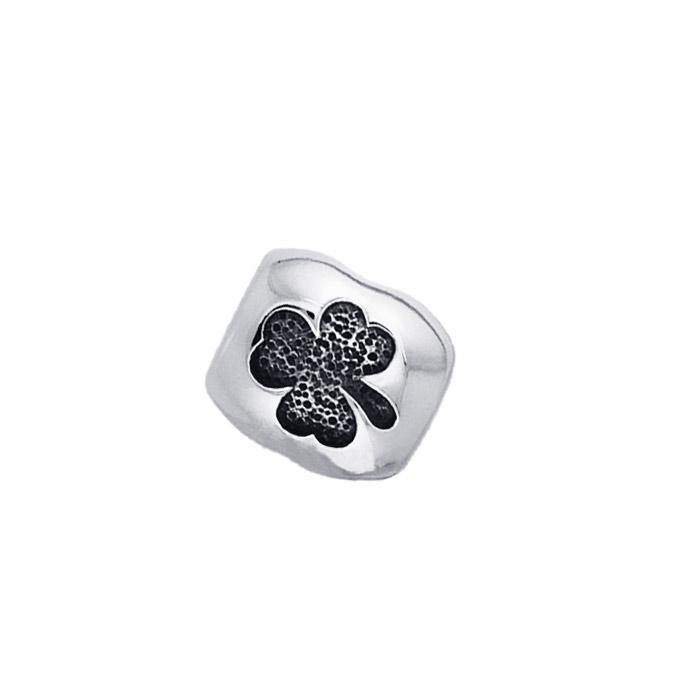 Custom your own jewelry in Sterling Silver Round Shamrock Bead TBD010 peterstone.
