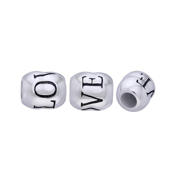 Round Love Silver Bead TBD019