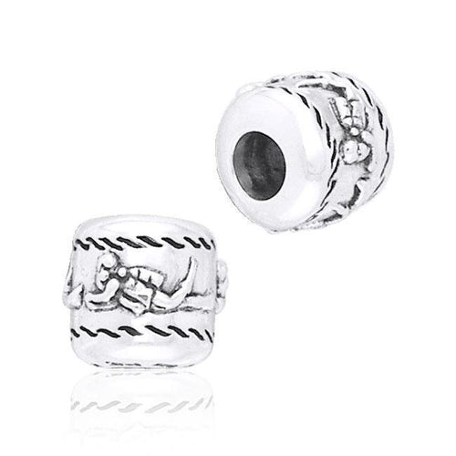 Cylinder Scuba Diver Silver Bead TBD036 peterstone.