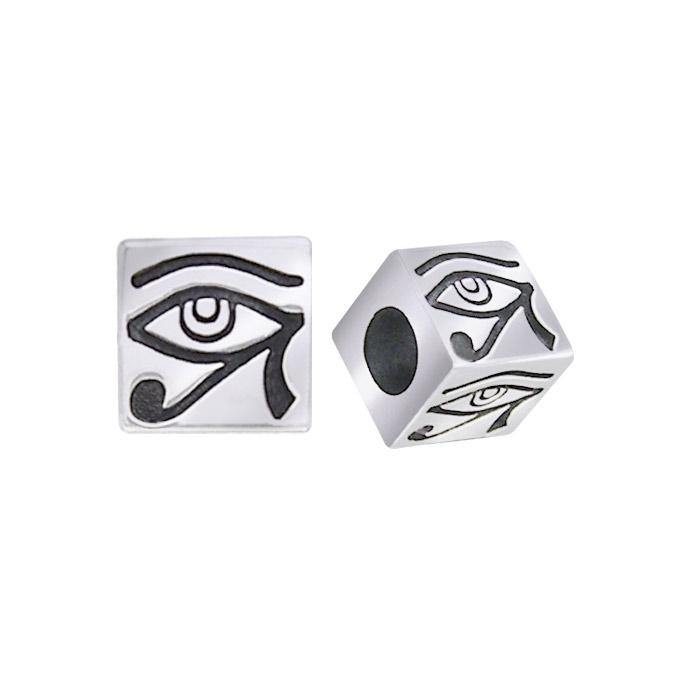 Square Eye of Horus Silver Bead TBD050